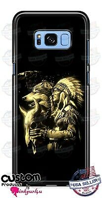 Native American Indian Wolf Design Phone Case Cover For iPhone Samsung LG Google Native American Indian Cover