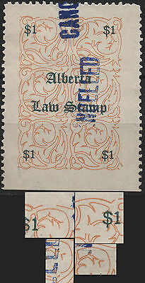 Canada Revenue VanDam # AL15 $1.00 Red & Green Alberta Law Stamp - of 1906