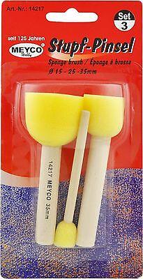 3 Pinsel Stupfpinsel Schwammpinsel Ø 15-25-35mm NEU