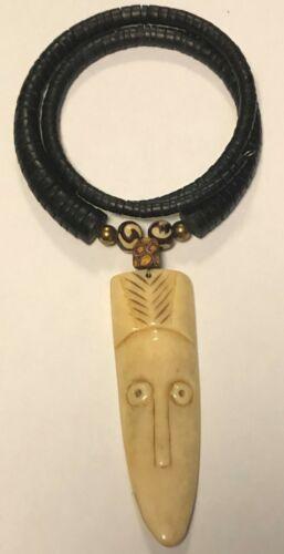 Vintage African Tribal Mask Necklace