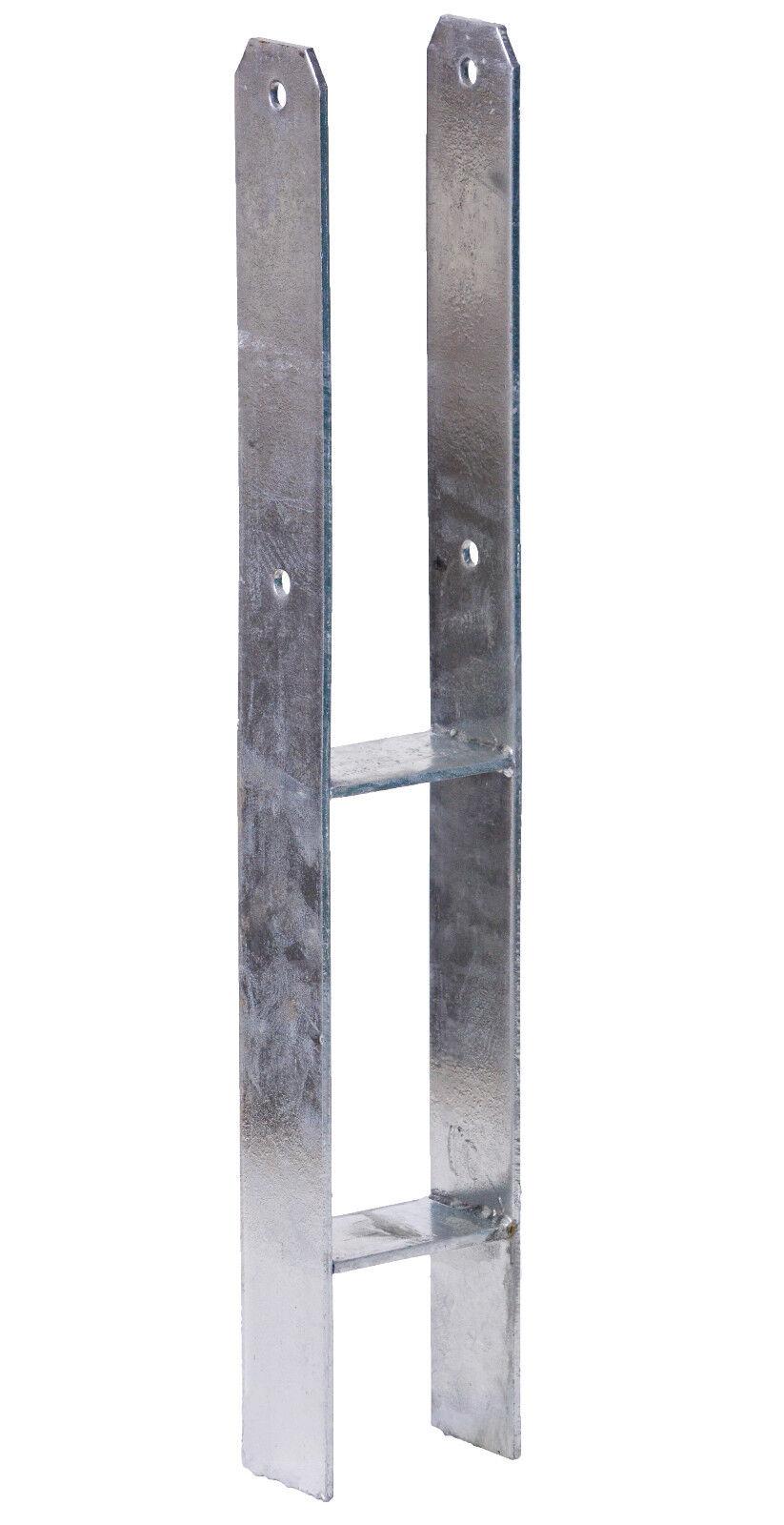 2 x H-Anker 5,5mm 101//600mm Pfostenträger Pfostenanker H-Träger Carport Zaun