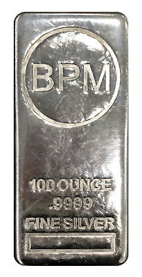 100oz BPM .9999 Silver Bar