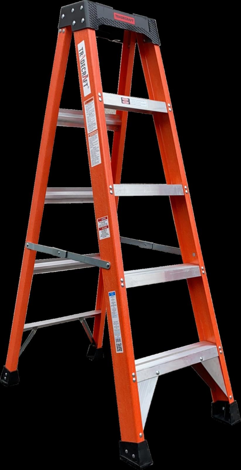 Tradecraft 5'  Heavy Duty Fiberglass Step Ladder Grade IA 30