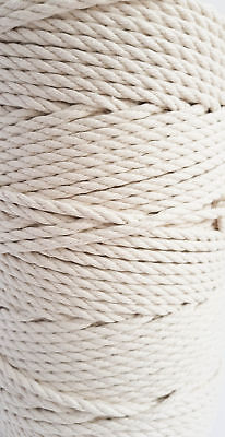 Macrame cord 6mm Thick Cotton rope Natural soft DIY cord