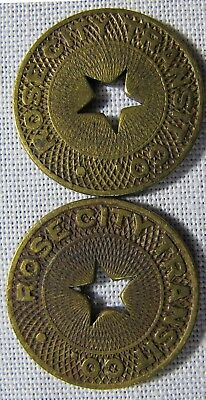2 - Portland Oregon Tokens Rose City OR-700i VERY SCARCE whotoldya Lot 41218