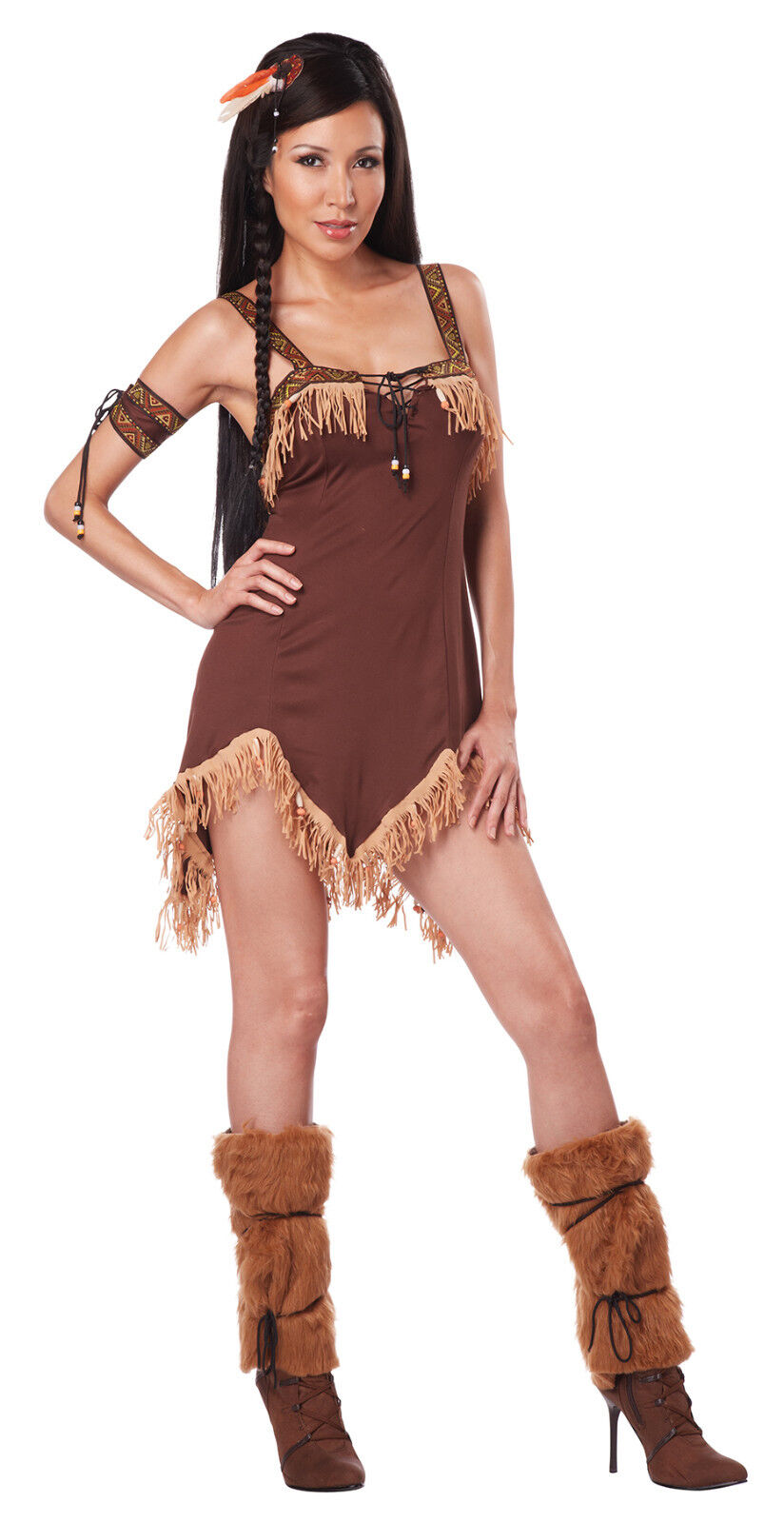 f0c35a21c Details about Sexy Indian Princess Pocahontas Halloween Adult Costume