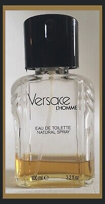 Versace L'homme for Men 3.3oz EDT Spray-Rare Discontinued Item - 20% Full (V032)