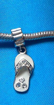 Abalorio/charm/bead CHANCLA (FLIP FLOP) plata 925 (european bracelet)
