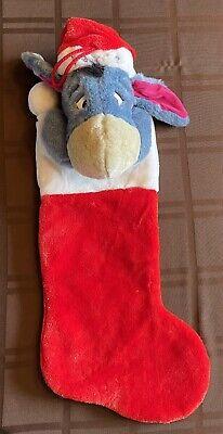 Vintage Disney Christmas EEYORE Plush 3D Stocking
