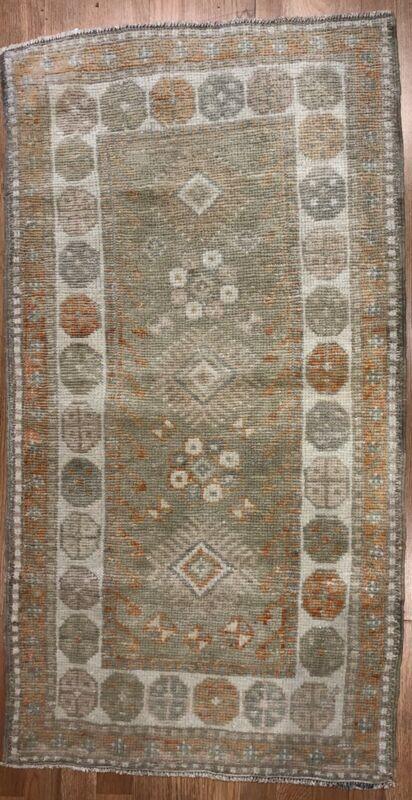 Opulent Oushak - 1960s Vintage Turkish Rug - Tribal Carpet - 2.5 X 4.5 Ft.