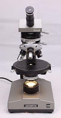 Olympus Ch Petrographic Pol Polarizing Monocular Microscope 4x 10x 40x