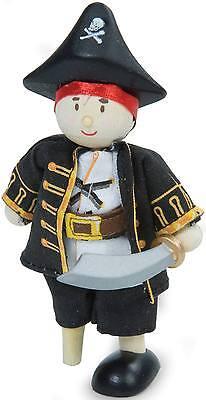 Le Toy Van BUDKINS WOODEN LEG CAPTAIN CAP'N Poseable Pirate Kids Doll BN