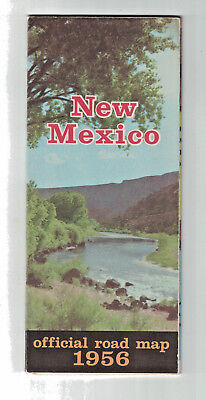 New Mexico Official Road Map 1956 State Highway Department 17.5 x 21 Enchantment