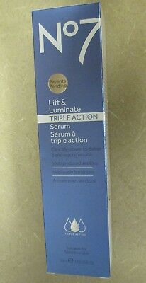 NEW Boots No7 Lift & Luminate Triple Action Serum larger Size 1.69 oz, 50 ml