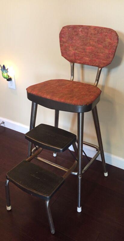 Vintage Mid Century 50s Ames Maid Step Stool Chair Kitchen Retro