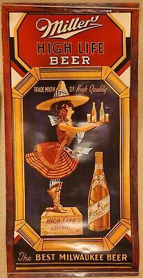 Miller High Life Beer advertising poster