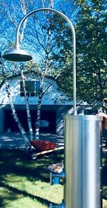 Outdoor Shower- Stainless Steel- For Pool, Cottage or Garden