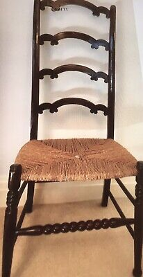 Antique Bobbin Front String Seat Chair.