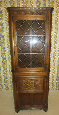 Ethan Allen Oak Sussex Corner Cabinet Royal Charter Collection 16 9907 for sale  Sargent