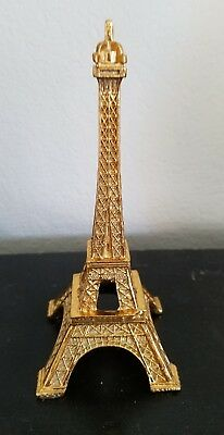 Paris Eiffel Tower Shaped Figure figurine Statue Shaped Gold Color Brand New