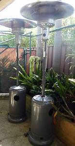 2 x OUTDOOR PATIO HEATERS WITH GAS CYLINDERS Jannali Sutherland Area Preview