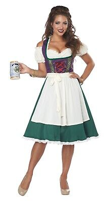 Oktoberfest Bavarian Beer Maid Fraulein Adult Costume  (Oktober Fest Costume)