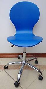 FANTASTIC FURNITURE - BLUE - WOODEN - OFFICE - KIDS - CHAIR - $79 Blackbutt Shellharbour Area Preview