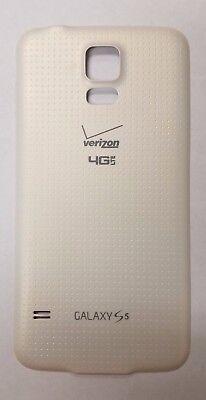 Genuine OEM New Verizon Samsung Galaxy S5 G900V Back Cover Battery Door White