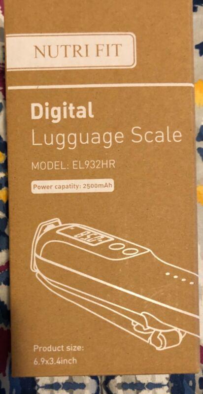 Digital luggage scale new nutri fit model number EL932HR