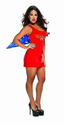 Wonder Woman Stretch Tank Dress with Rhinestone Logo for Adult M New by - Marvel Halloween Costumes For Adults