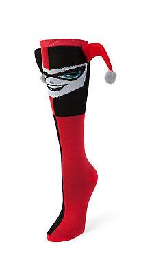 DC Comics Harley Quinn Dangle Hat Knee High Socks