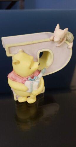 Disney Winnie the Pooh Alphabet LETTER P, Ceramic, Michel & Co. For Nursery