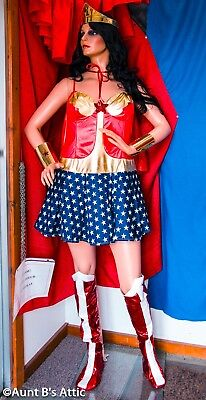 tume 5 Pc Red White & Blue Dress Cape Crown & Cuffs 1x-2x (Superwoman Cape)
