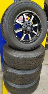 WHEEL & TYRE PACKAGE MOTO 18x9 & DUNLOP 285/60R18 Nunawading Whitehorse Area Preview
