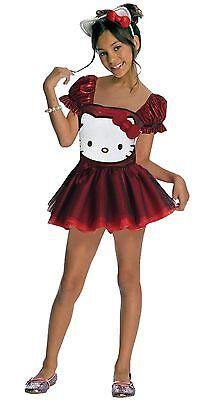 RUBIES~GIRLS RED TULLE HELLO KITTY DRESS HEADBAND HALLOWEEN COSTUME L 12 14 - Hellokitty Costume