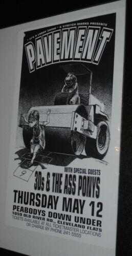 Pavement Cleveland 1994 concert poster flyer Derek Hess art print Barney rare