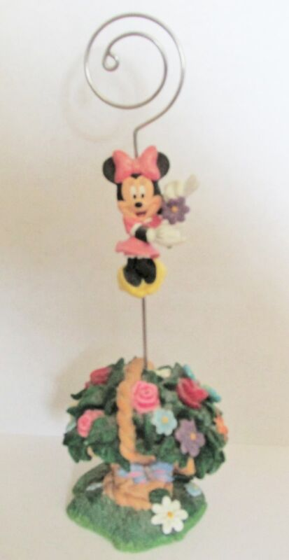 """MINNIE MOUSE   VERY CUTE   NOTE HOLDER   7"""" TALL   COLORFUL FLORAL ARRANGEMENT"""