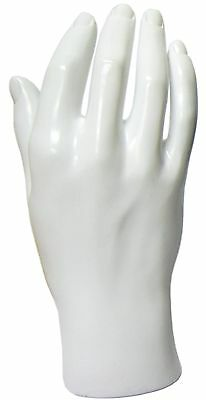 Mn-handsm White Right Male Mannequin Hand Jewelry Display White Only