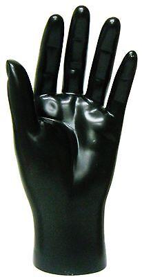 Mn-handsm Black Left Male Mannequin Hand Jewelry Display Black Only