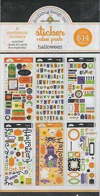 Doodlebug Designs Sticker Value Pack~HALLOWEEN themed~so cute!  Quick Ship! - Cute Halloween Designs