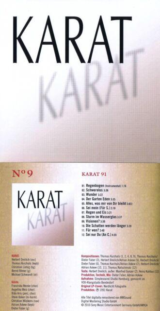 """Karat """"Karat 91"""" Mit 12 Songs! Von 1991! Digital remastered! Nagelneue CD!"""