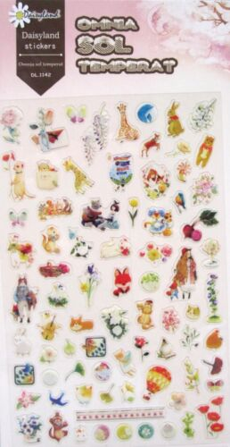 Daisyland Transparent Scrapbooking Sticker Sheet (Omnia Sol Temperat)~ KAWAII!!