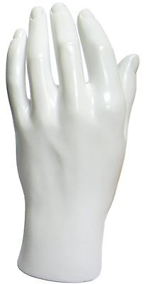 Mn-handsm White Left Male Mannequin Hand Jewelry Display White Only