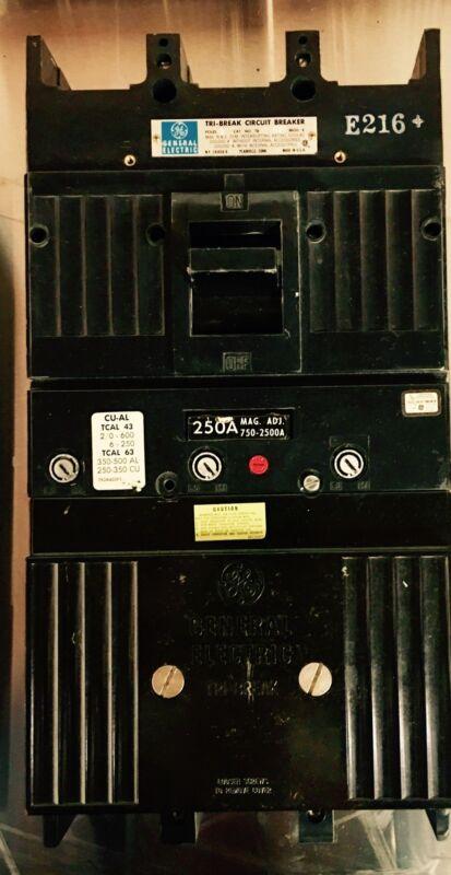 Tb43 250 Amp Tri Breaker Ge Reconditioned