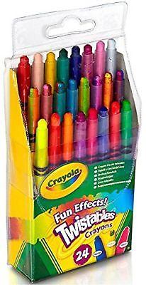 Crayola Fun Effects Mini Twistables Crayons 24 ea
