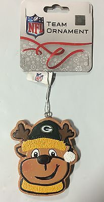 - Green Bay Packers Gingerbread REINDEER Christmas Tree Holiday Ornament NEW