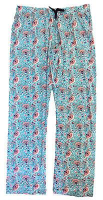 Aqua Floral Pyjama (LADIES PYJAMA BOTTOMS AQUA FLORAL EX UK STORE LOUNGE PJ PANTS UK 6-20 BRAND NEW)