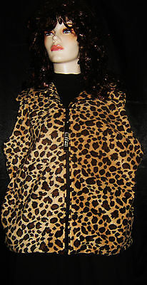 Effeci Leopard Fleece Vest 2x Plus