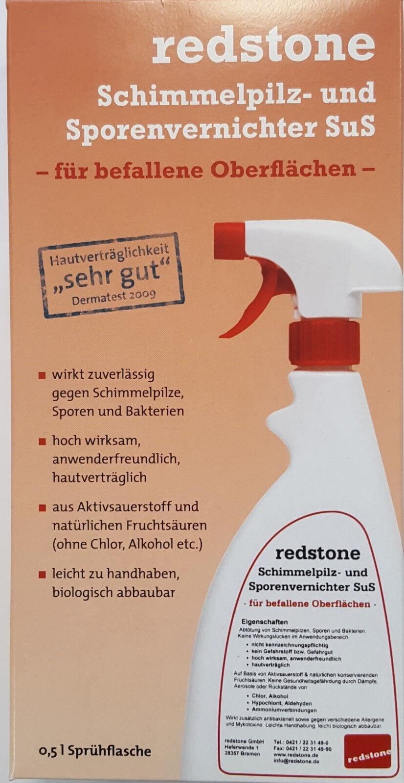 Redstone Schimmelpilz-und Sporenvernichter Schimmelspray Schimmelentferner 500ml