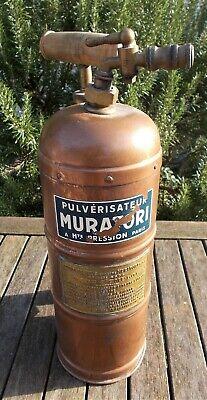 Vintage copper garden sprayer, french, Muratori, collector's piece, decorative
